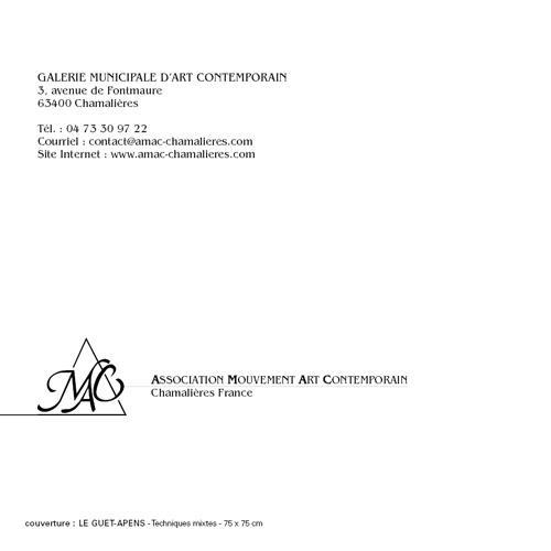 Catalogue exposition Fournerie à l'AMAC - Chamalière